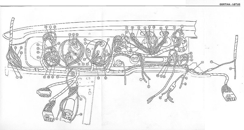 1969 1970 lotus cortina dash wiring