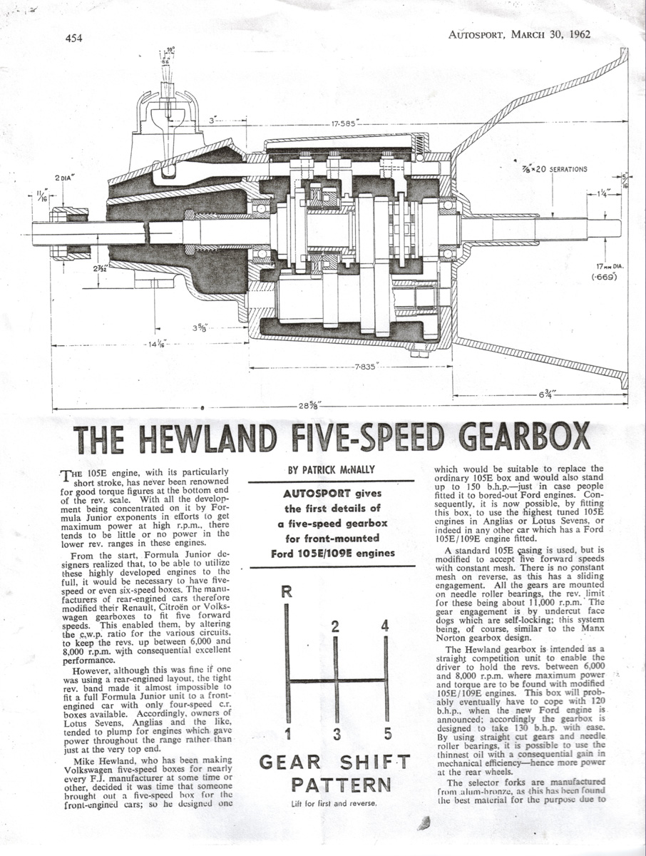 Hewland 5 Speed Cortina Gearbox Click On The Circuit To See A Larger More Readable Version For Image That Opens In Separate Window
