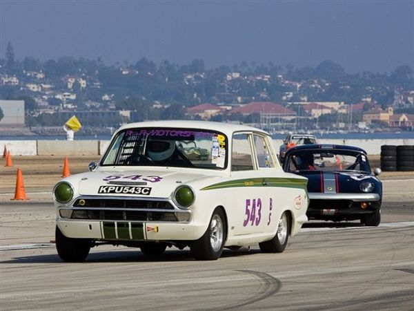 Roger Andriesse is driving his Lotus Cortina at Monterey this year!
