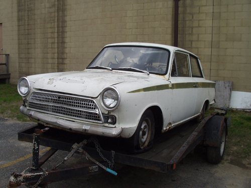 Lotus Cortina shell, recently purchased